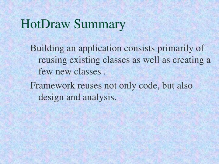 HotDraw Summary