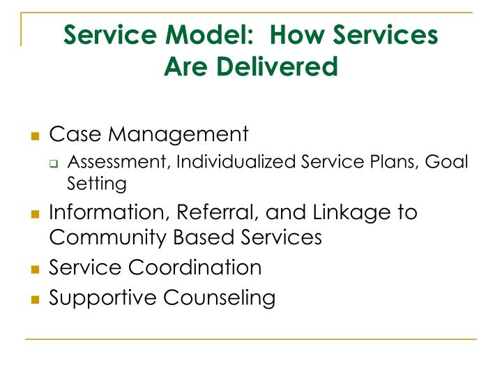 Service Model:  How Services