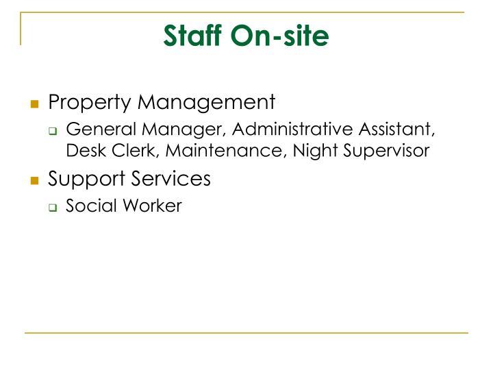 Staff On-site