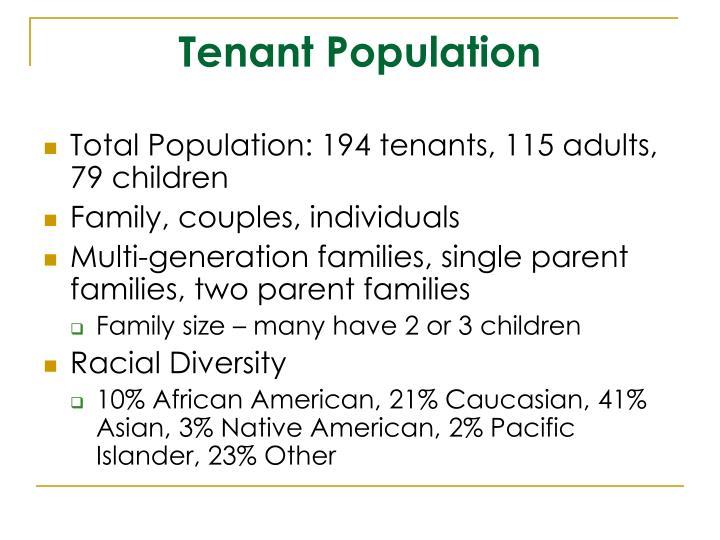 Tenant Population