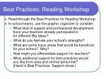 best practices reading workshop