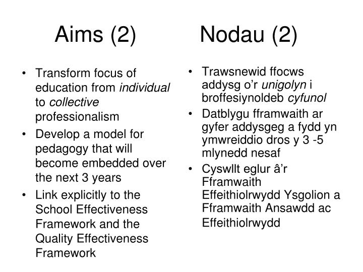 Transform focus of education from