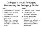 datblygu y model addysgeg developing the pedagogy model