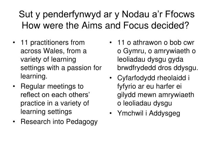 11 practitioners from across Wales, from a variety of learning settings with a passion for learning.