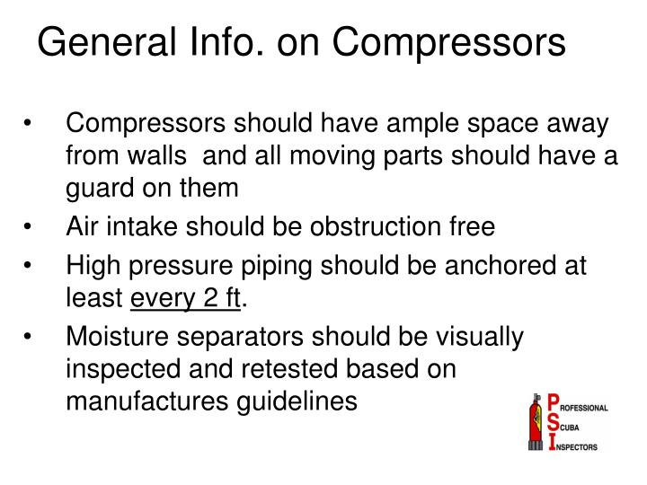 General info on compressors
