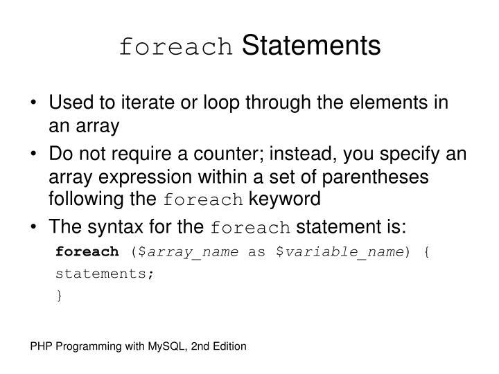 foreach
