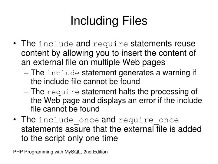 Including Files