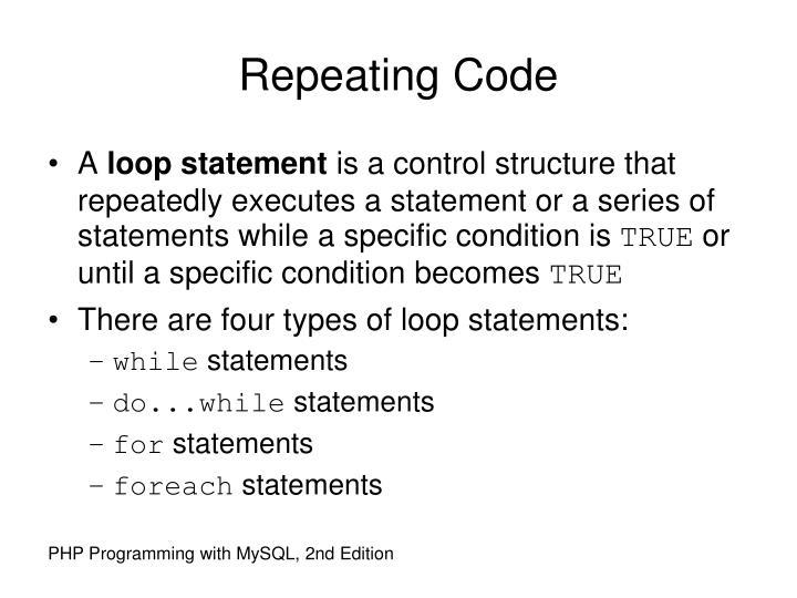 Repeating Code