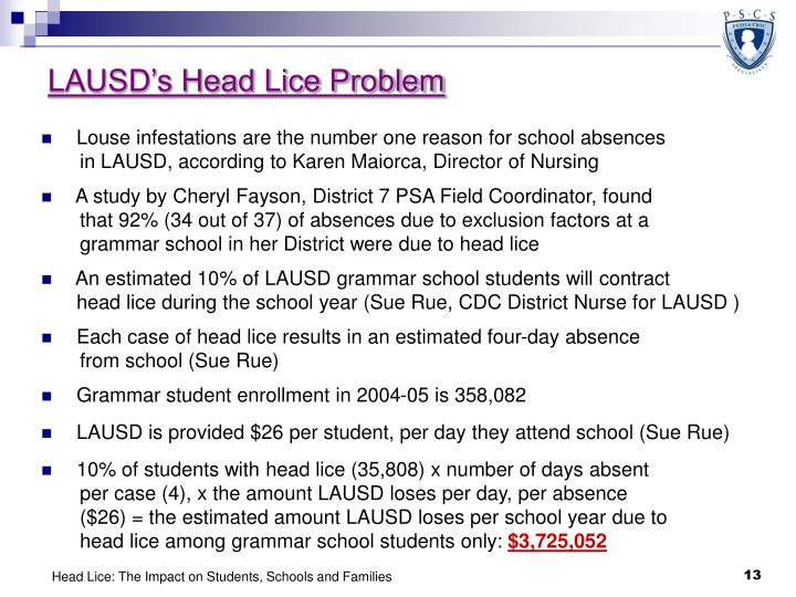 LAUSD's Head Lice Problem