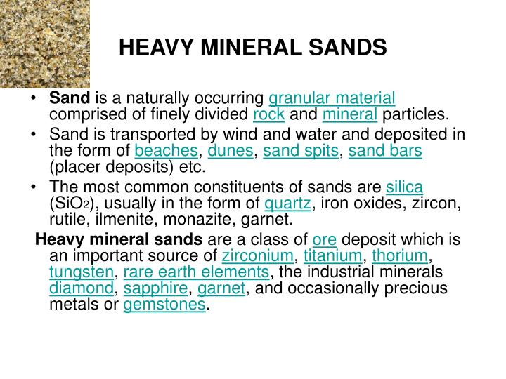 HEAVY MINERAL SANDS