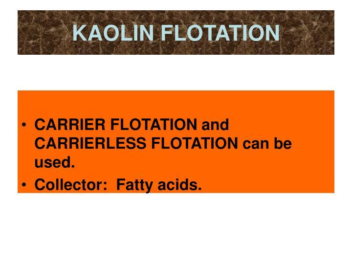 KAOLIN FLOTATION