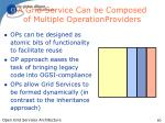 a grid service can be composed of multiple operationproviders