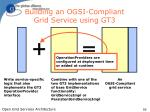 building an ogsi compliant grid service using gt33