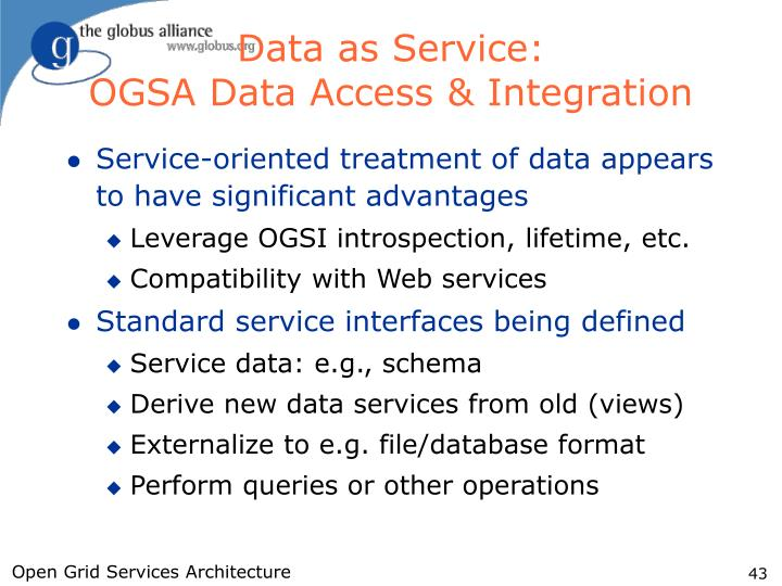 Data as Service: