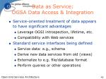 data as service ogsa data access integration