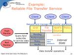 example reliable file transfer service