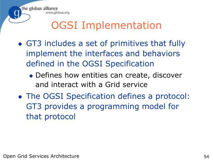 OGSI Implementation