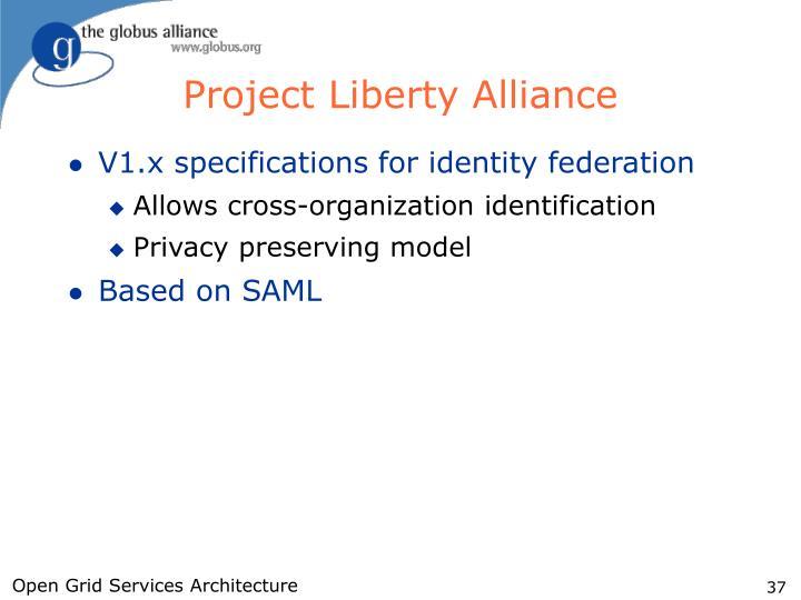 Project Liberty Alliance
