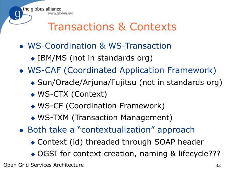 Transactions & Contexts