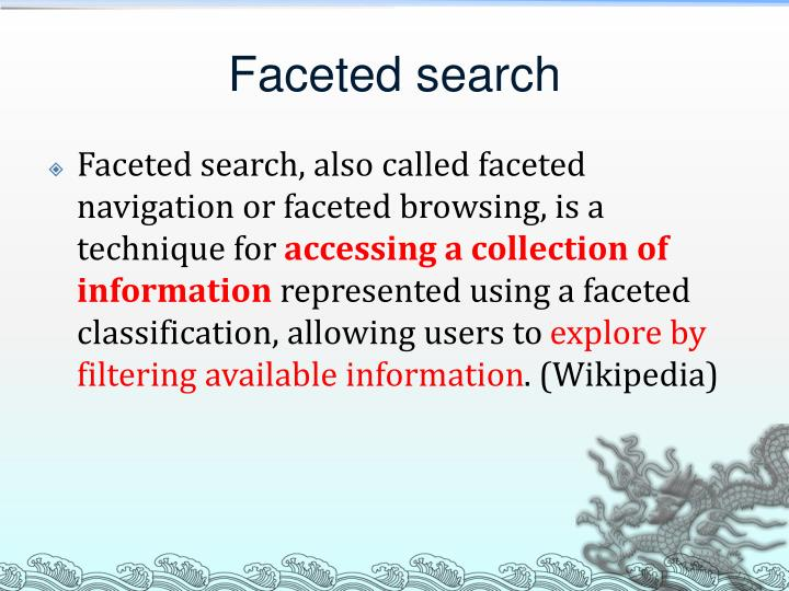 Faceted search