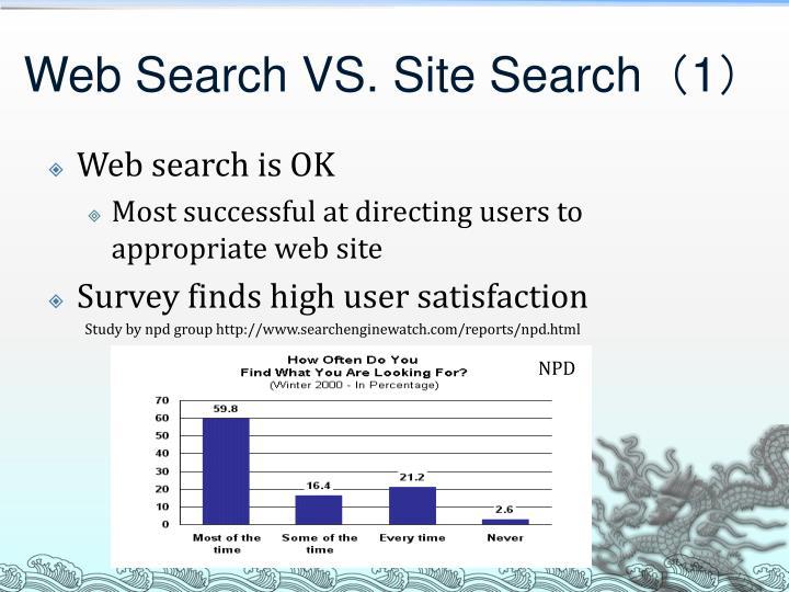 Web Search VS. Site Search
