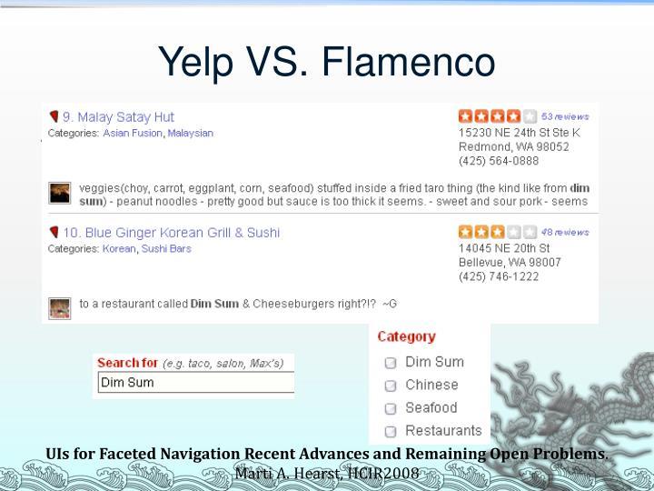 Yelp VS. Flamenco
