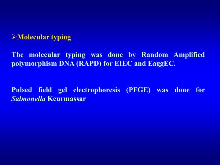 Molecular typing