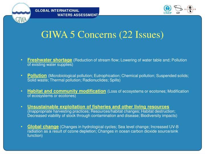 GIWA 5 Concerns