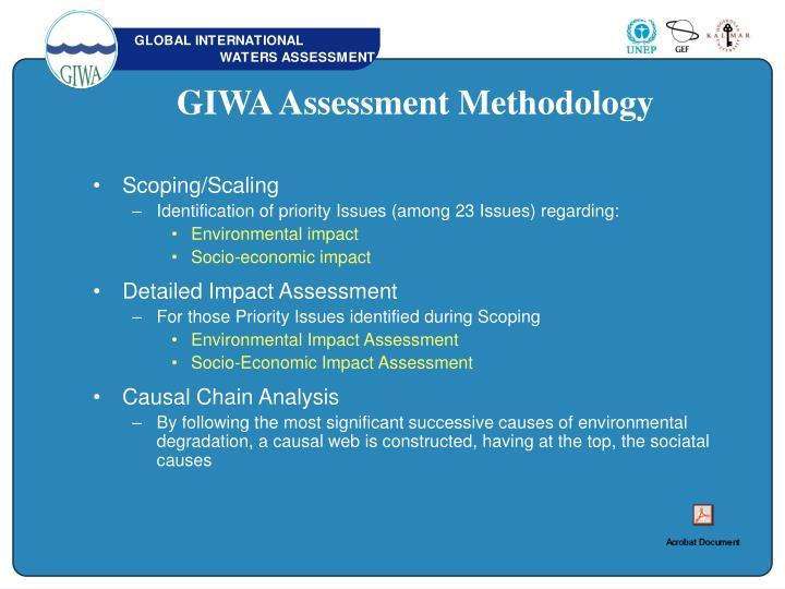 GIWA Assessment Methodology