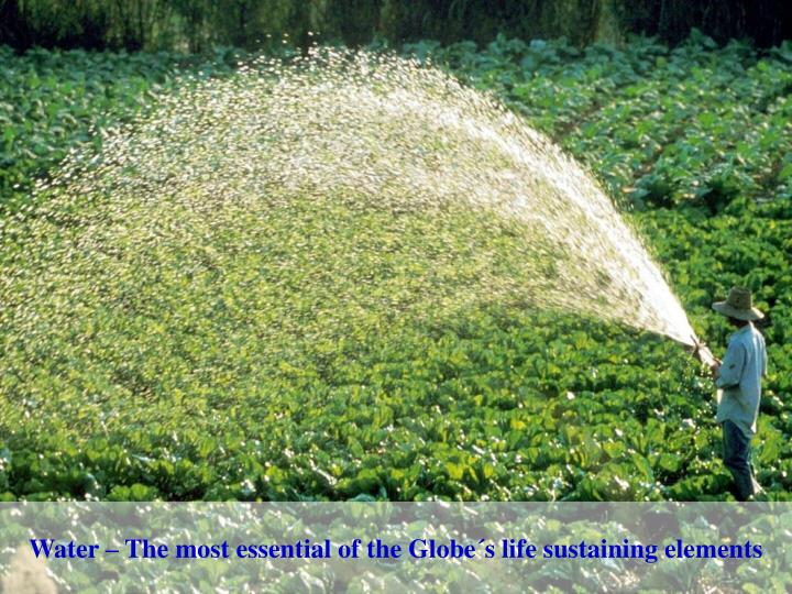 Water – The most essential of the Globe´s life sustaining elements