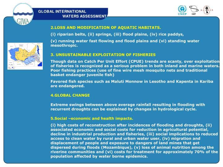 2.LOSS AND MODIFICATION OF AQUATIC HABITATS.