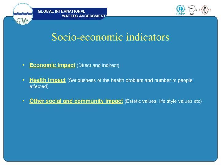Socio-economic indicators