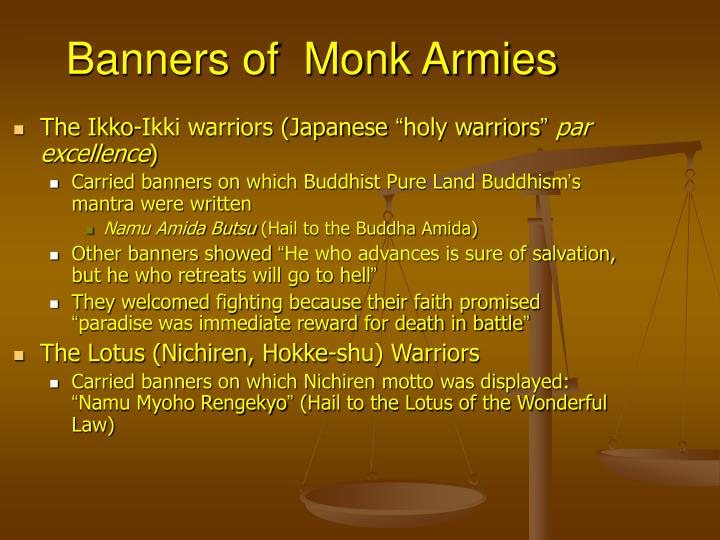 Banners of monk armies