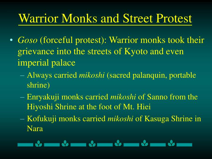 Warrior Monks and Street Protest