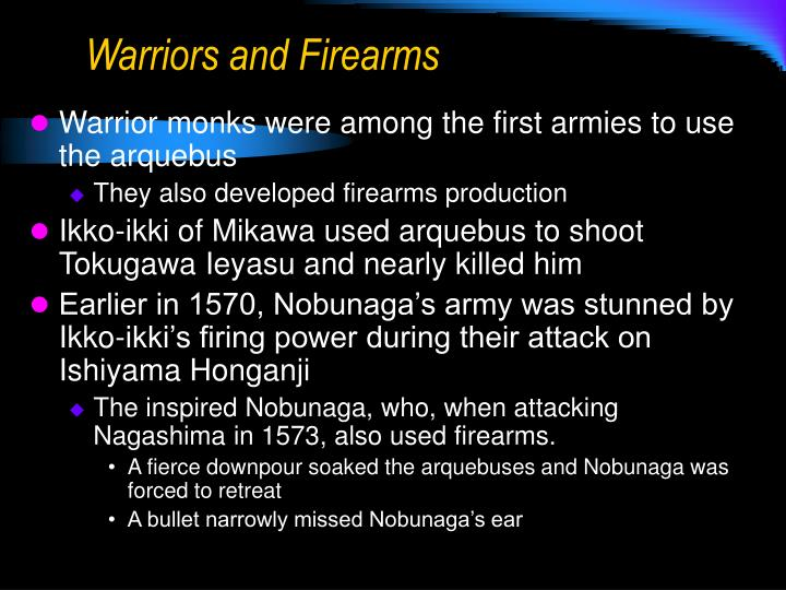 Warriors and Firearms