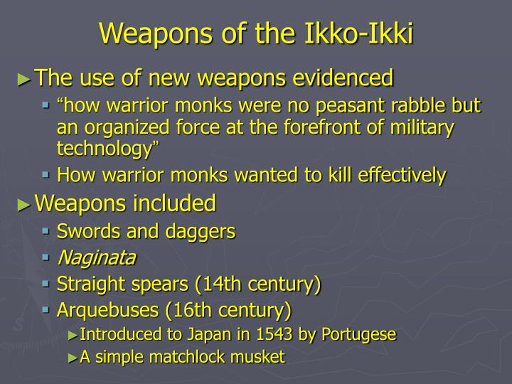 Weapons of the ikko ikki