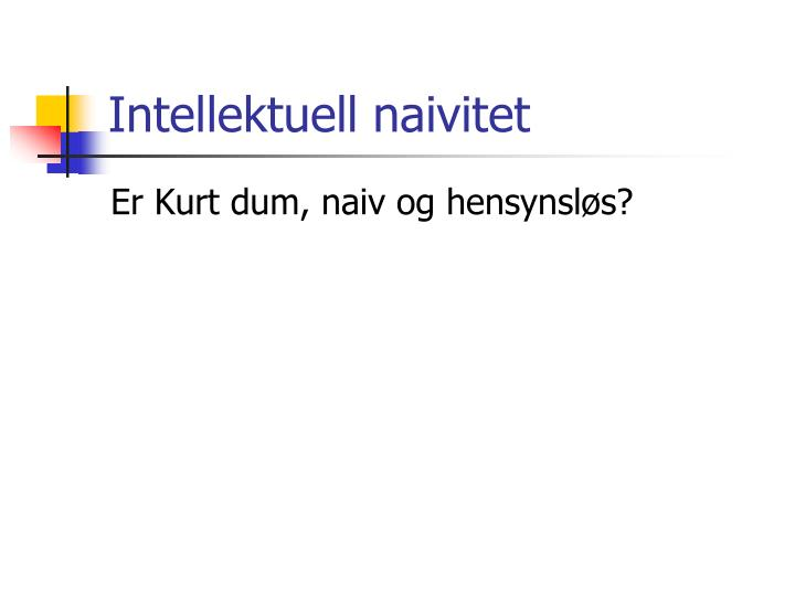 Intellektuell naivitet