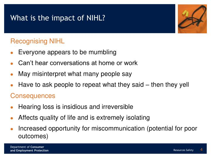 What is the impact of NIHL?