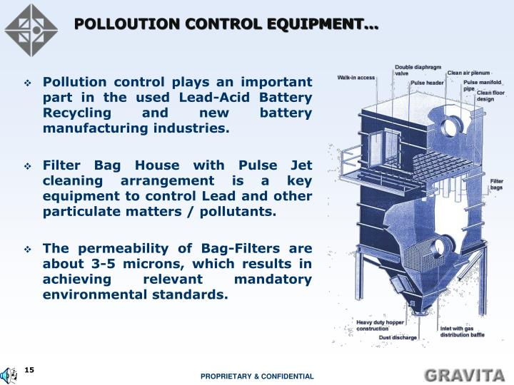 POLLOUTION CONTROL EQUIPMENT…
