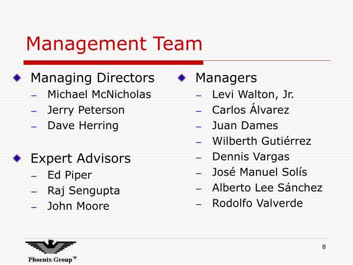 Managing Directors