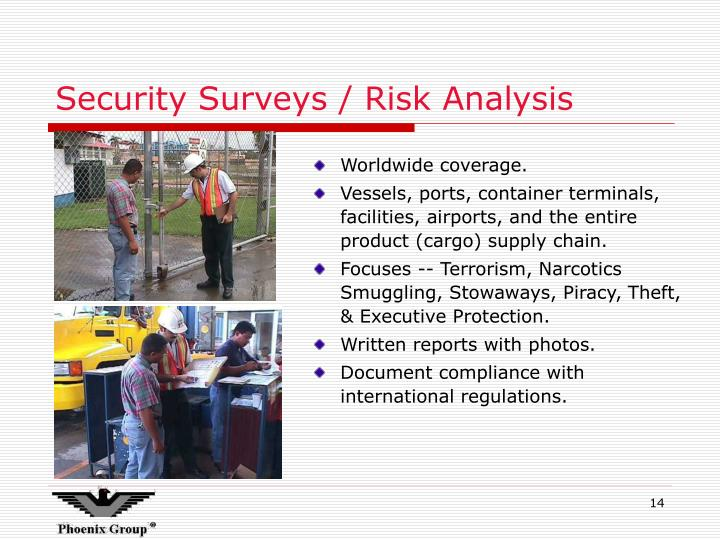 Security Surveys / Risk Analysis