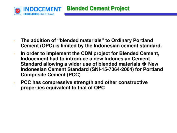 Blended Cement Project