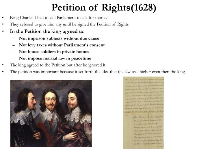 Petition of Rights(1628)
