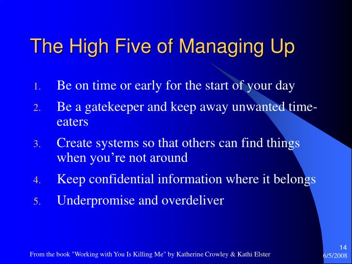 The High Five of Managing Up