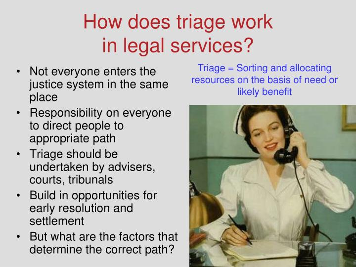 How does triage work