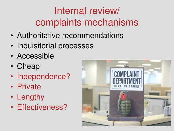 Internal review/