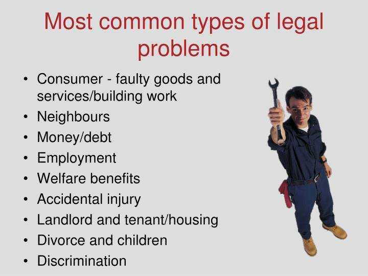Most common types of legal problems