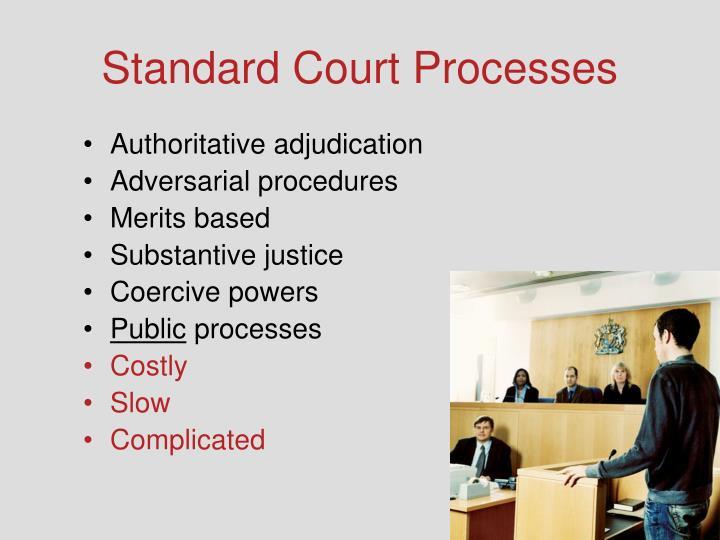 Standard Court Processes