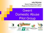gwent domestic abuse pilot group