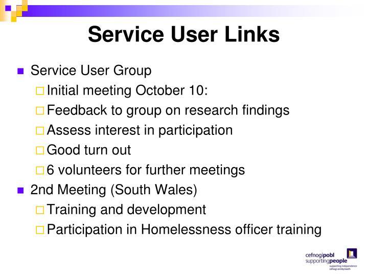 Service User Links